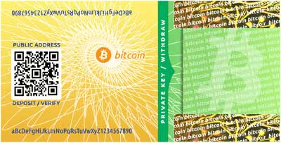 monedero bitcoin papel