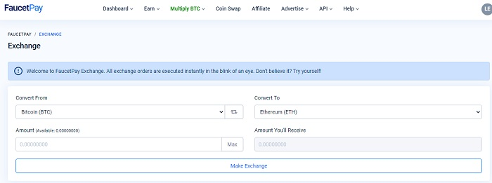 faucetpay exchange